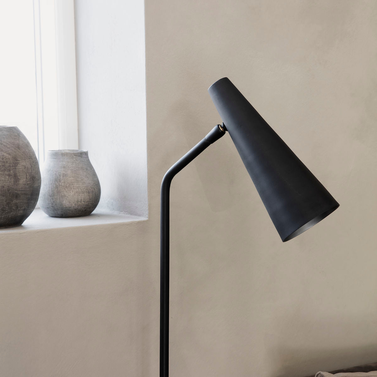 Floor Lamp, Precise, Matte Black finish lighting from House doctor