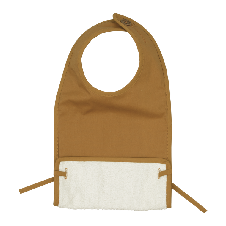 Coated Feeding Bib - Ochre