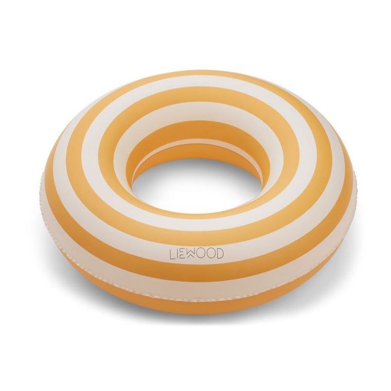 Baloo Swim Ring - Stripe: Yellow mellow/creme de la creme