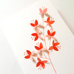 Blossom Cut&make die cut greetings cards handmade in Berlin