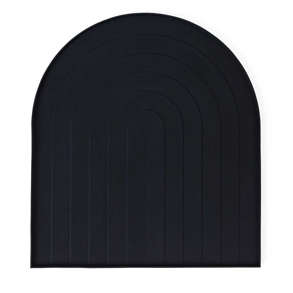 Black silicone dish tray from Oyoy living design