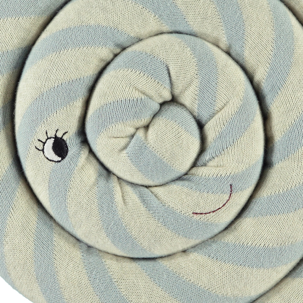 Lollipop cushion blue and cream striped from oyoy living design