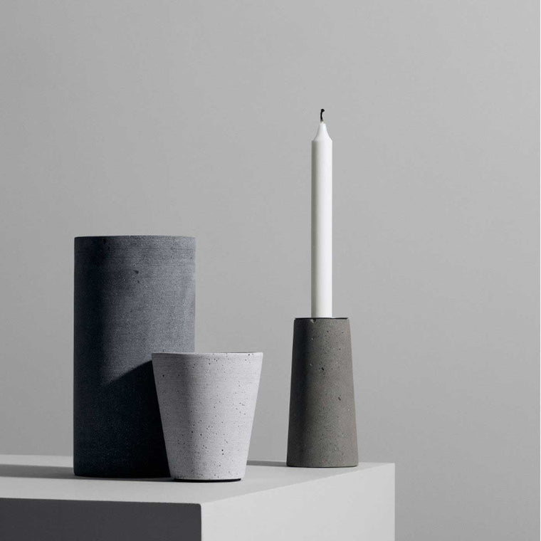 Blomus Fiesta Candlestick holder stainless steel and stone timeless