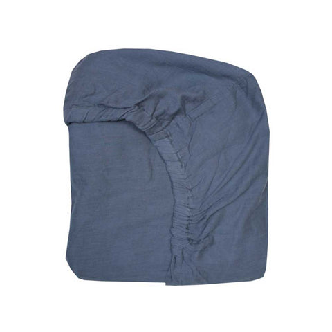 Navy gauze fitted sheet
