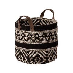 Maileg Miniature Black and white Basket