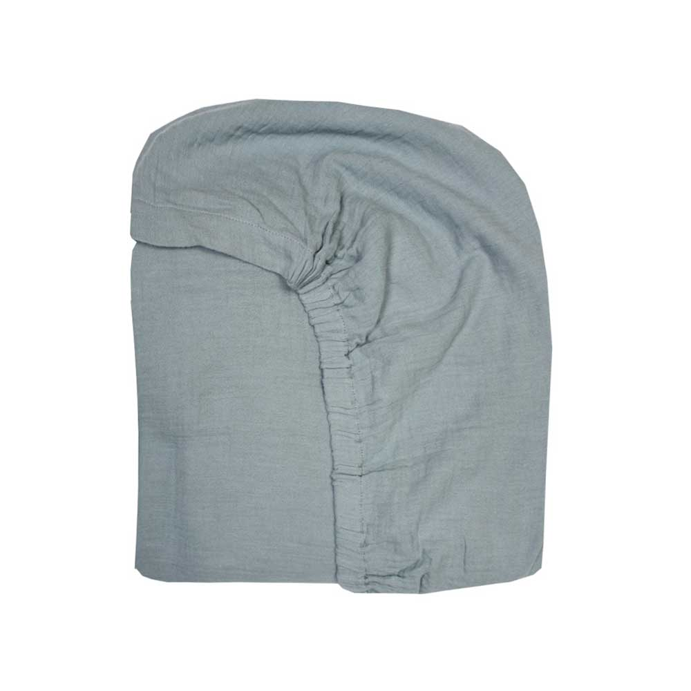 Green blue gauze fitted sheet