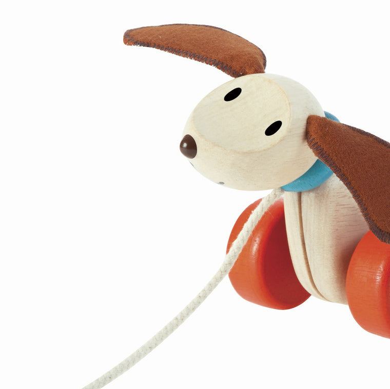 Happy Puppy pull along dog from Plan toys