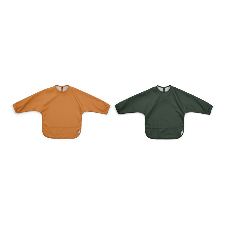 Merle Cape Bib - 2 Pack - Mustard/hunter green