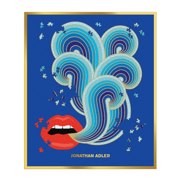 Jonathan Adler 750 Piece Lips Shaped Puzzle Pre- order