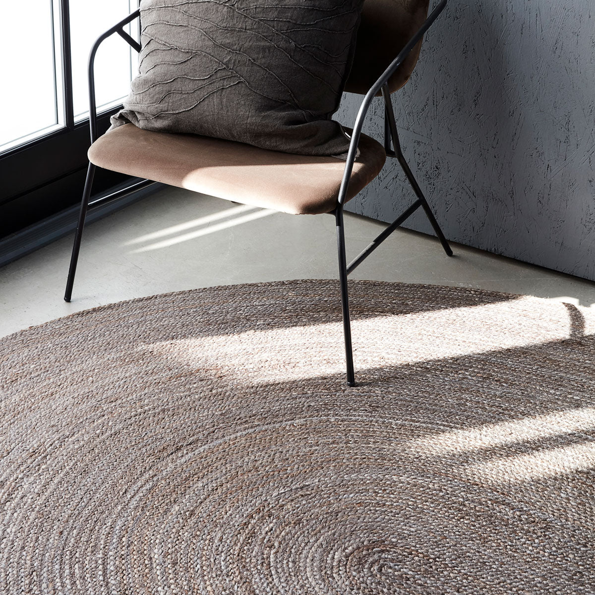 Rug, Charco, Grey/Brown House Doctor large oval Jute