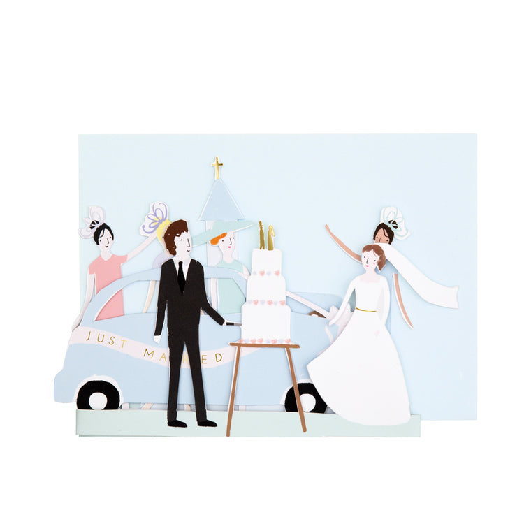 Just Married Concertina Card