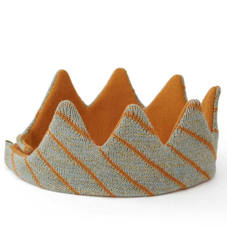 OYOY living design Costume kings crown blue and gold knitted