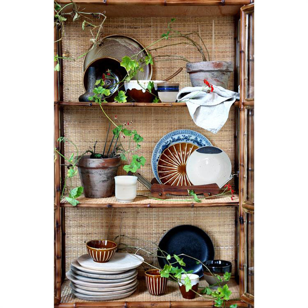 Japanese style kyoto ceramics by HK Living in bamboo shelf