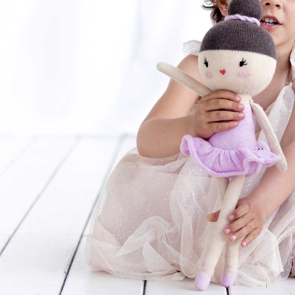 Lauvely Pink ballerina Knitted Friend No. 28 – Ballerina Anna