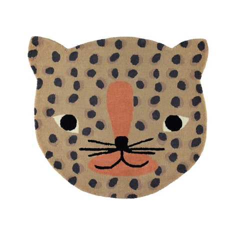 Leopard rug OYOY living design wool and cotton