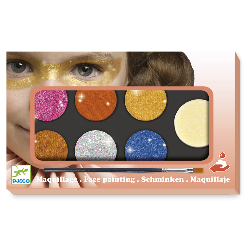 Djeco Face paints Palette 6 colours - Metallic
