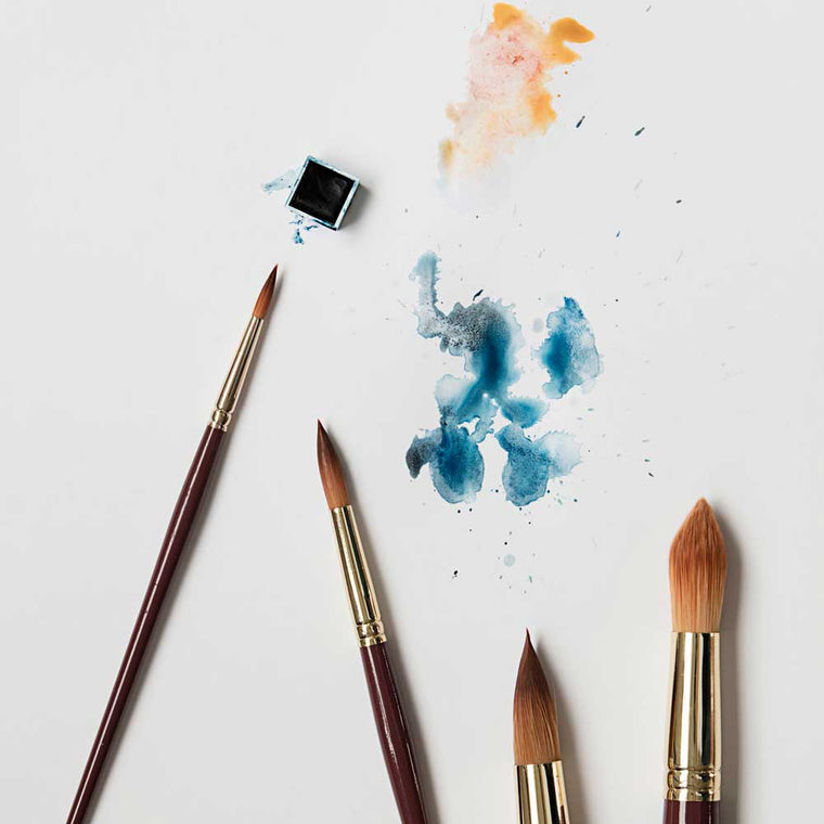 watercolour brushes from monograph