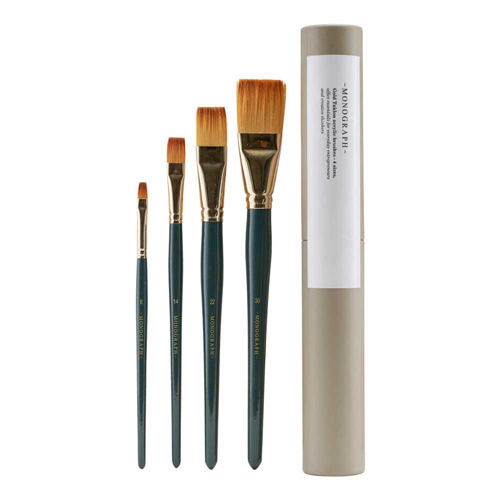 4 acrylic brushes from Monograph