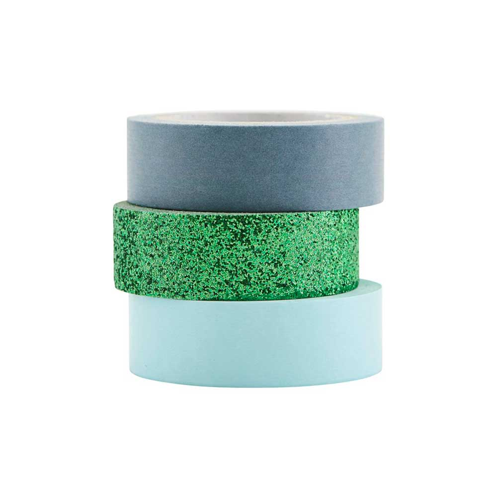 sparkly washi tape monograph