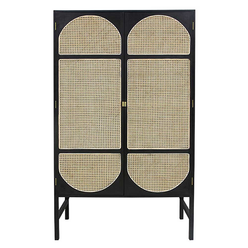 retro webbing cabinet with shelves Black or Grey