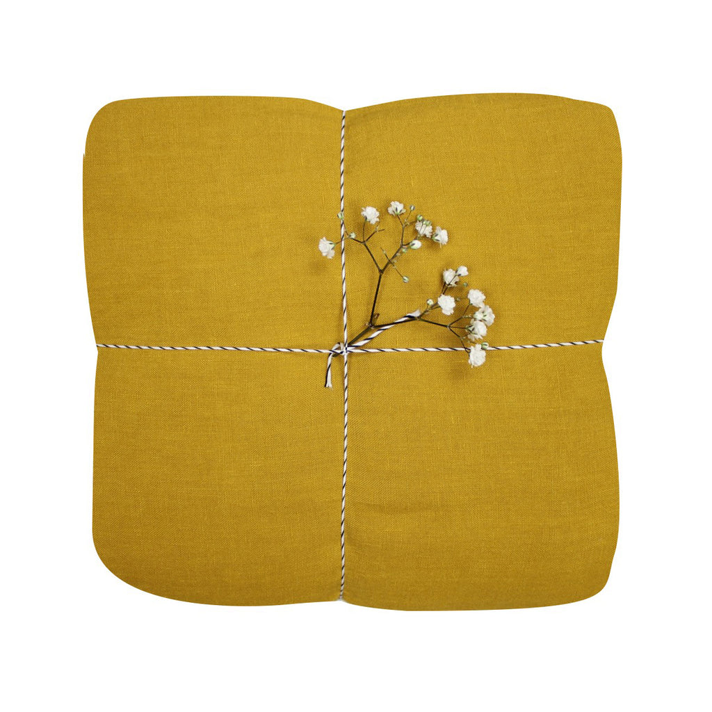 Mustard Gauze Duvet set and pillowcase.