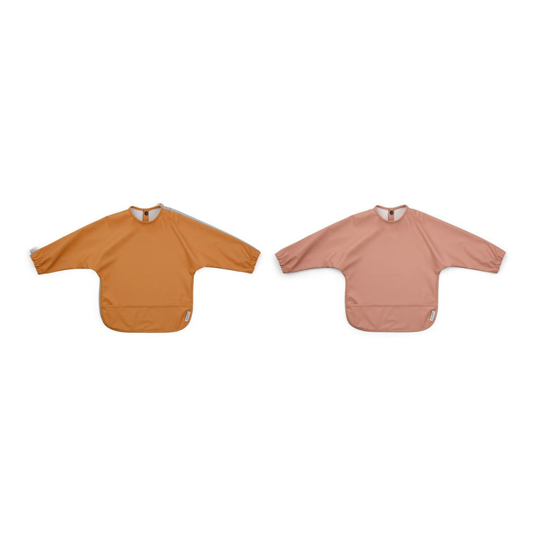 Merle Cape Bib - 2 Pack - Dark Rose/Mustard