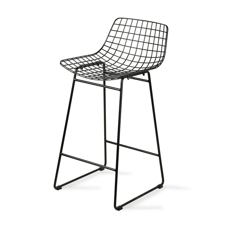 wire bar stool black