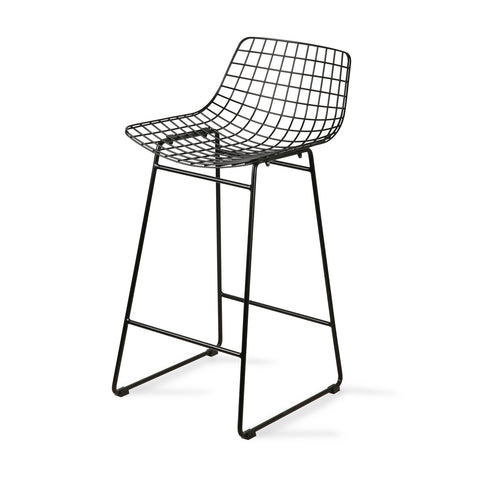 HK living wire bar stool black with comfort kit