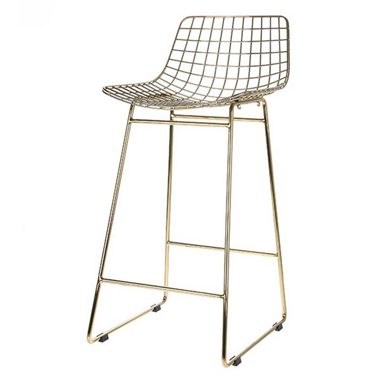 wire bar stool brass -pre order