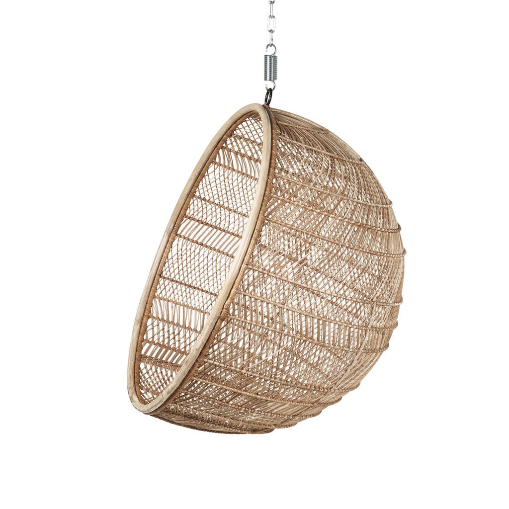 HK Living rattan hanging bowl chair natural bohemian