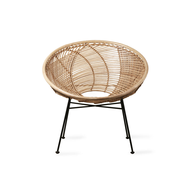 Pre-order rattan ball lounge chair natural