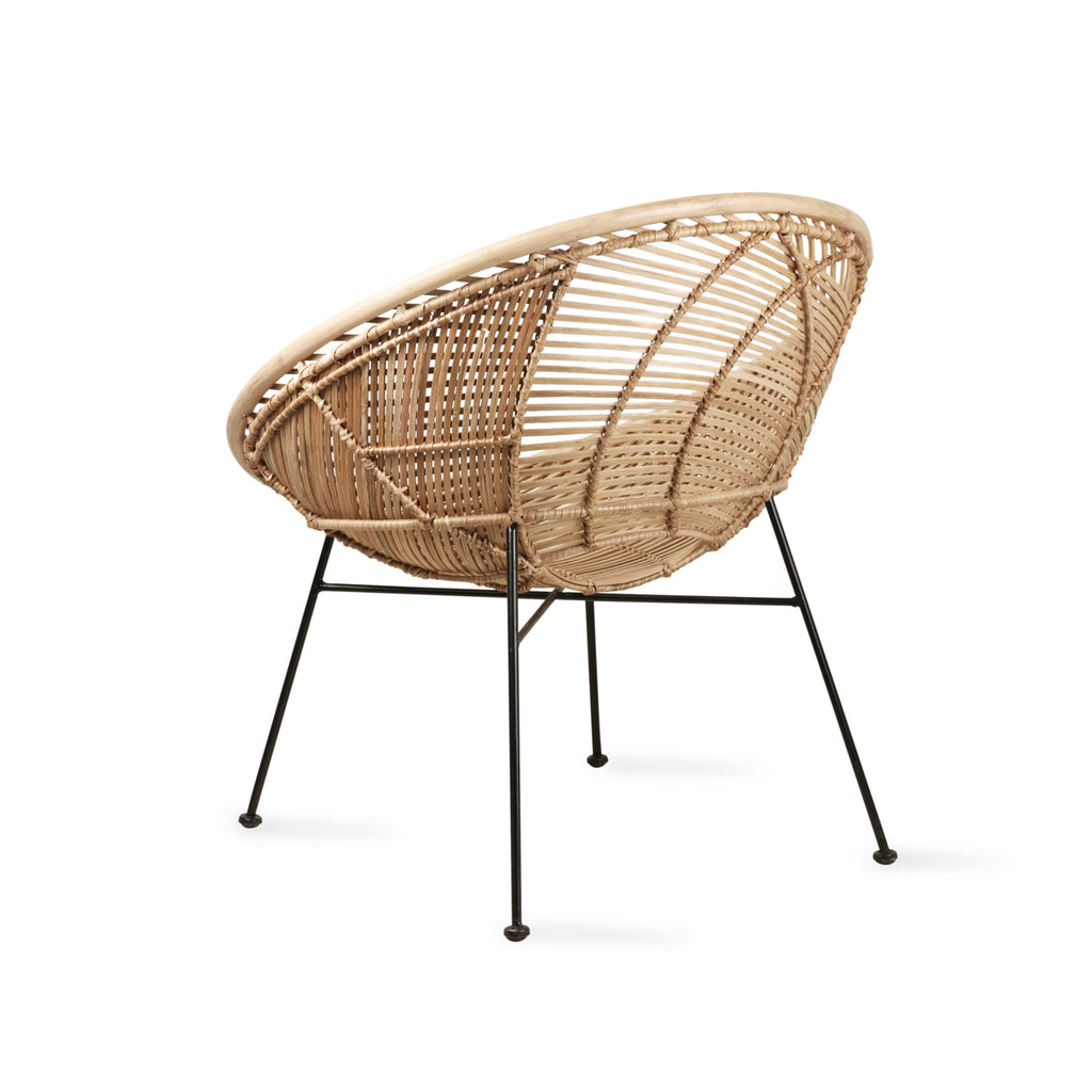 HK Living rattan ball lounge chair natural