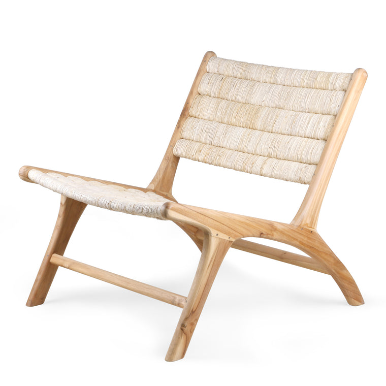 abaca/teak lounge chair HK Living