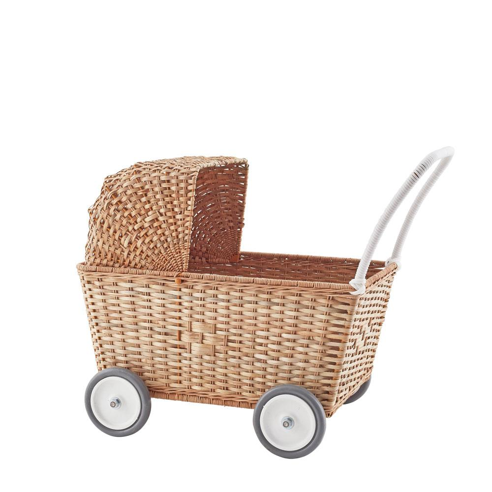 strolley Olli Ella wicker pram