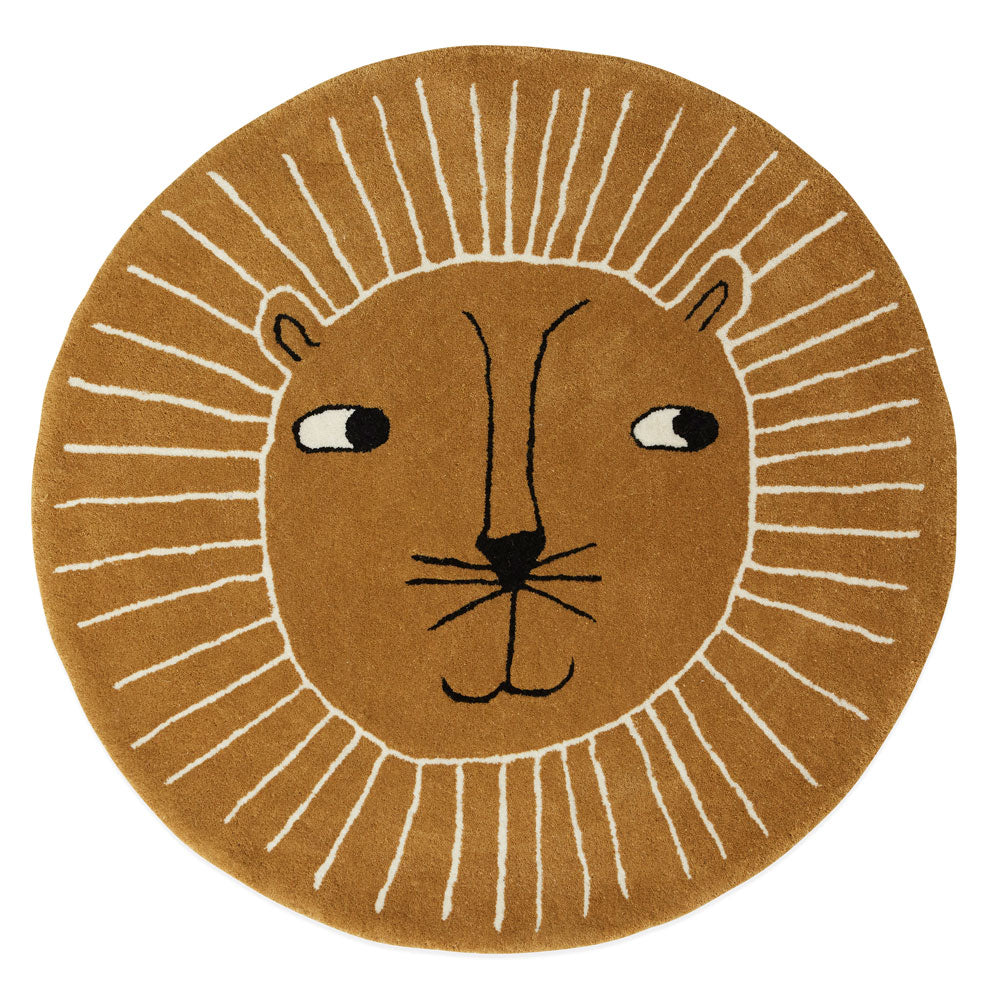 Lion rug OYOY living design wool and cotton