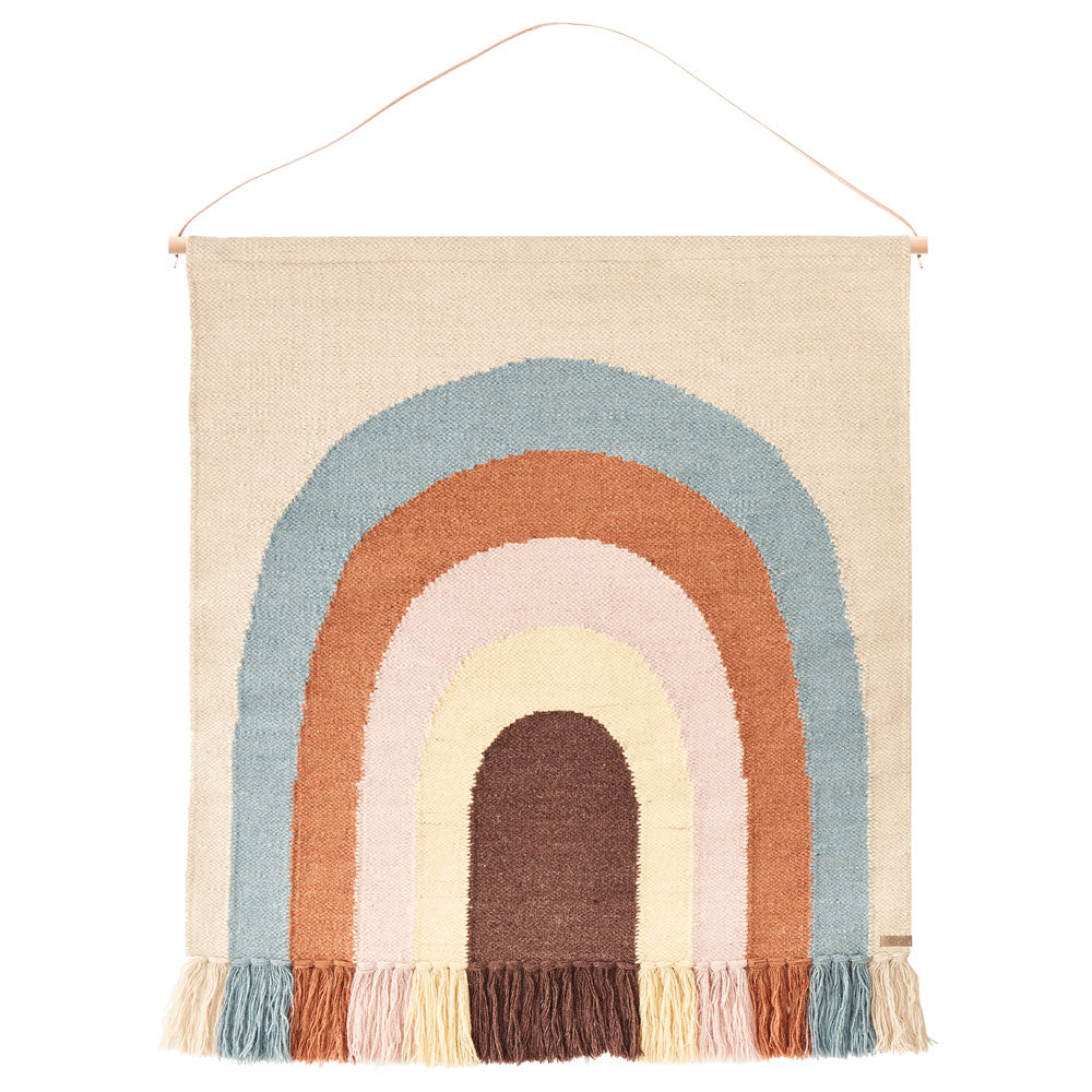 follow the rainbow wall hanging rug from oyoy living design.
