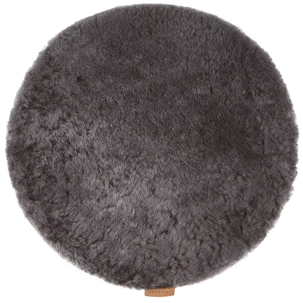 Seat cushion sheepskin Asphalt