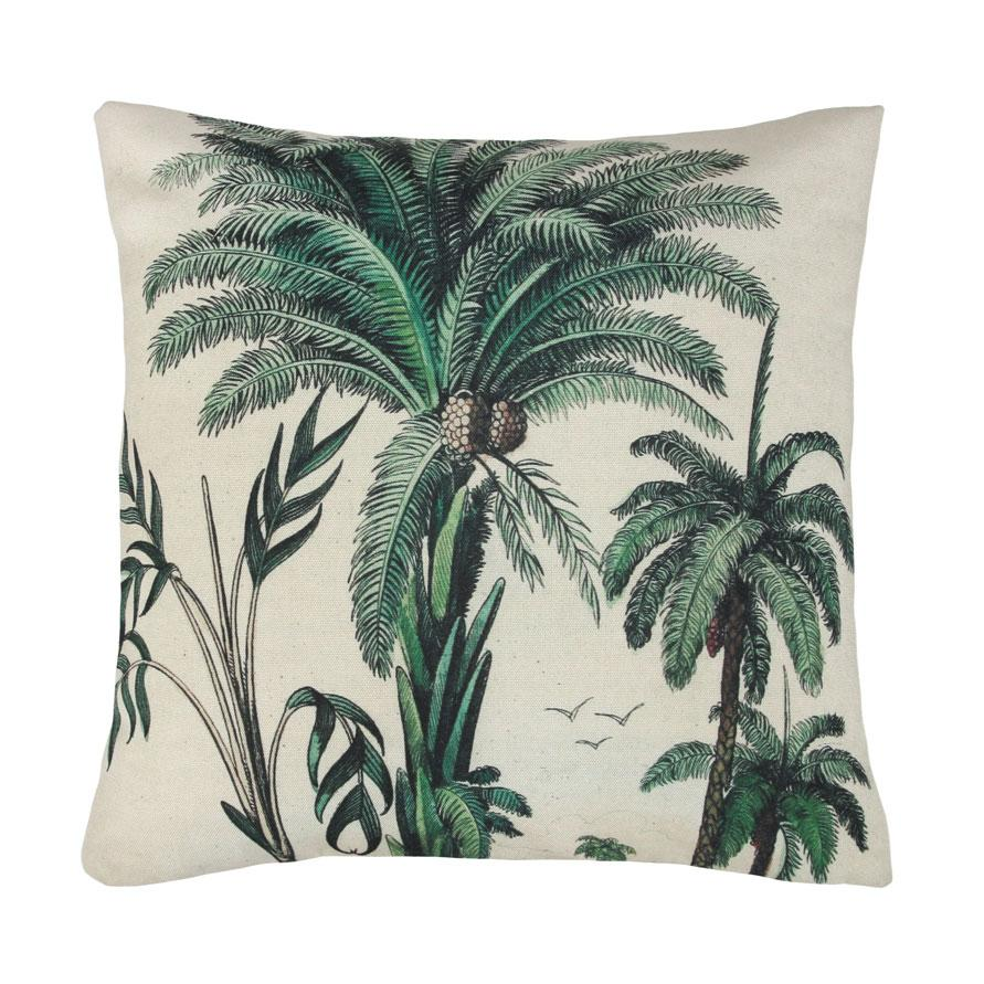 Palm trees cushion
