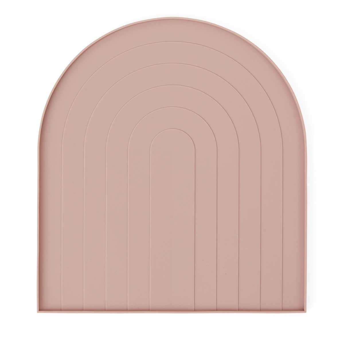 OYOY living design Dish tray Rose pink silicone