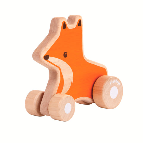 Plan Toys Fox Wheelie push pull toy suitable 12 months
