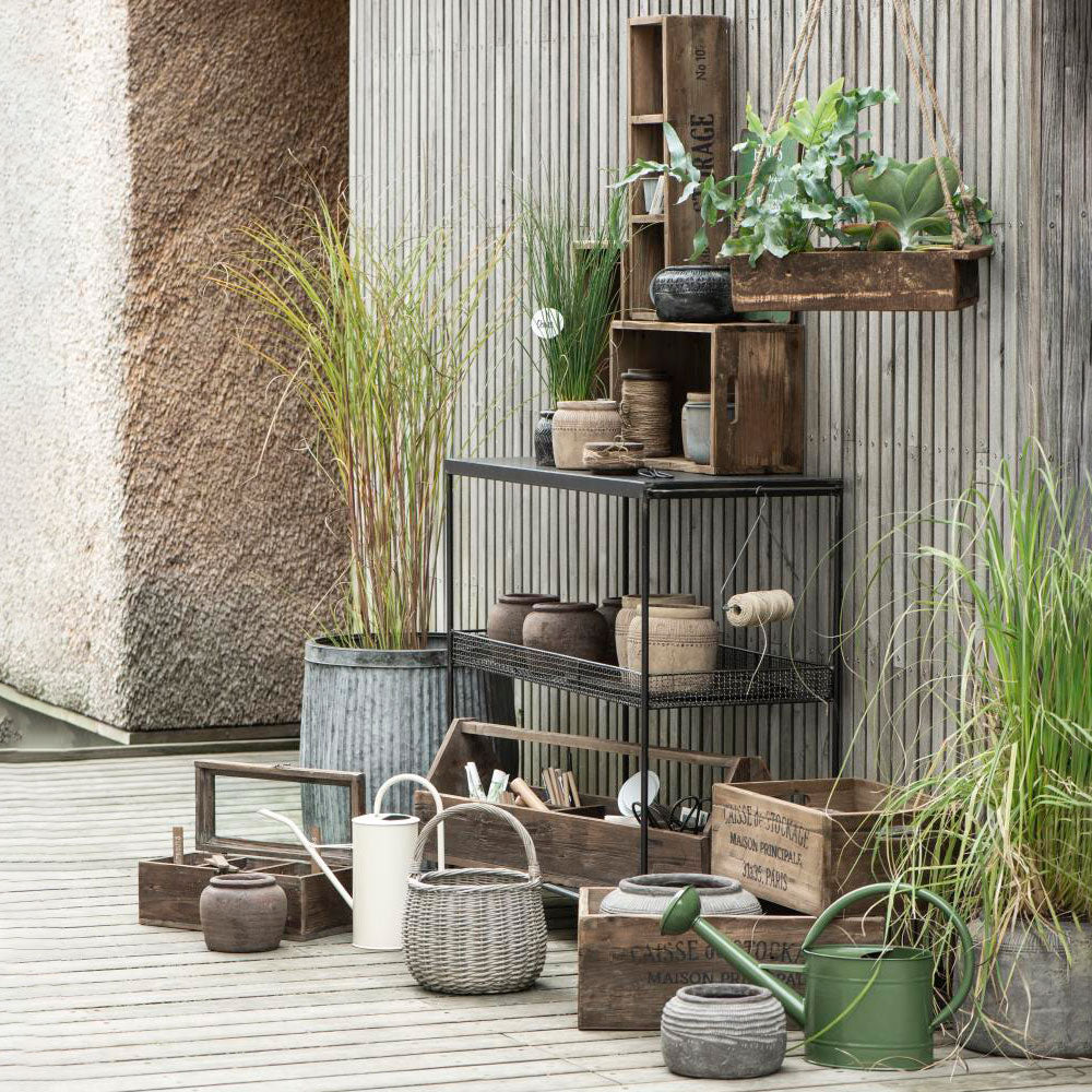 Pot set of 2 Urban Garden zinc metal planters