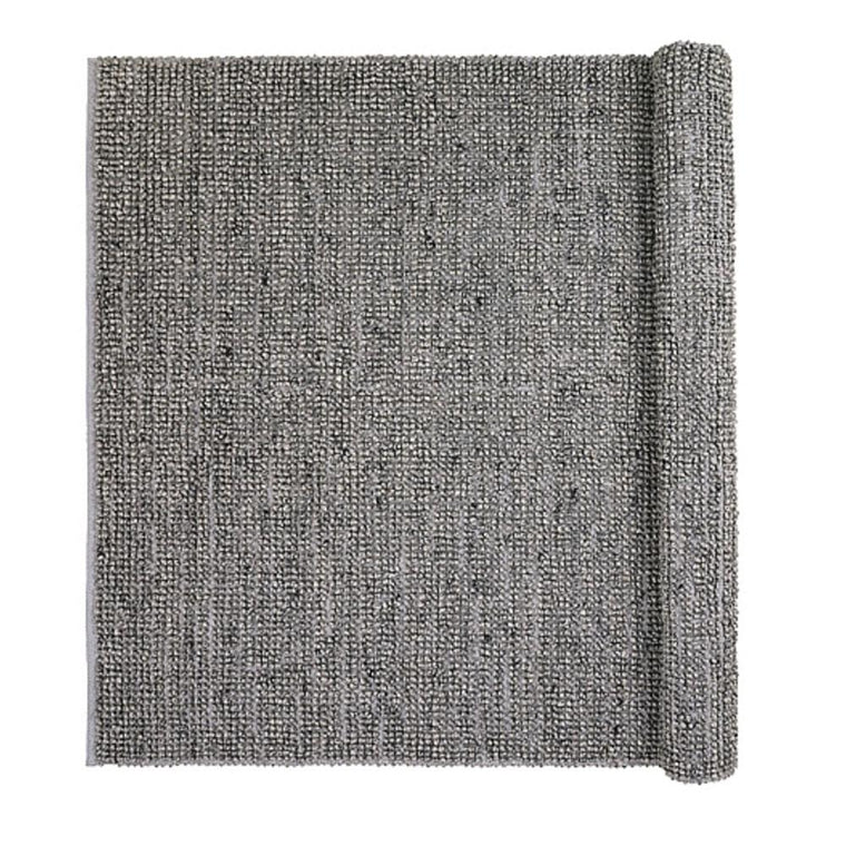Textured Grey Rug 140 x 200cm