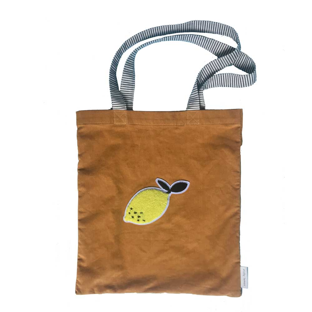mustard tote bag from sticky lemon