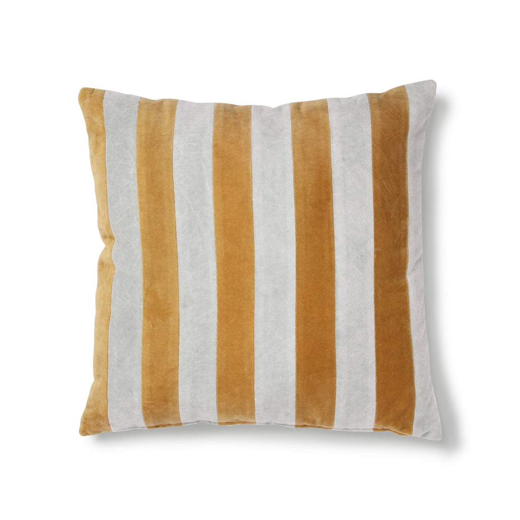 Striped cushion nude/gold 50 x 50