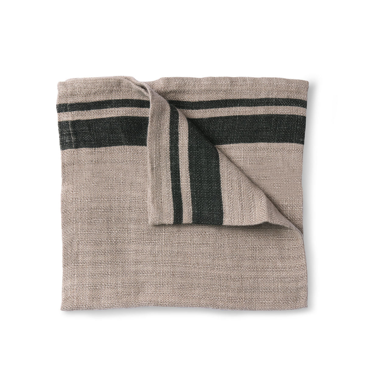 HK Living natural/striped linen napkin set of 2 (45x45)