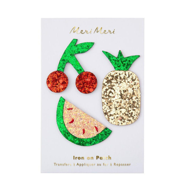 Glitter fruit patches