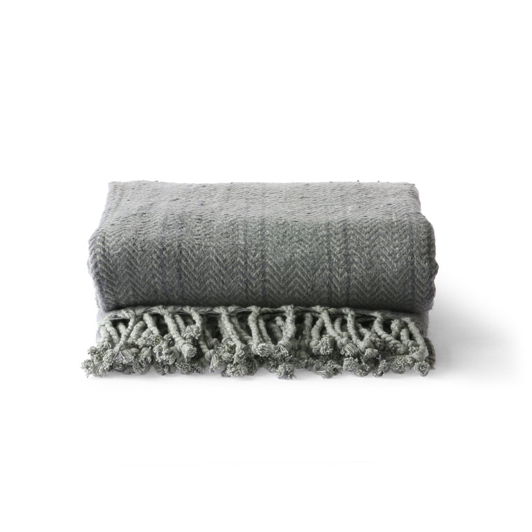 brushed cotton throw grey/purple (130x170)