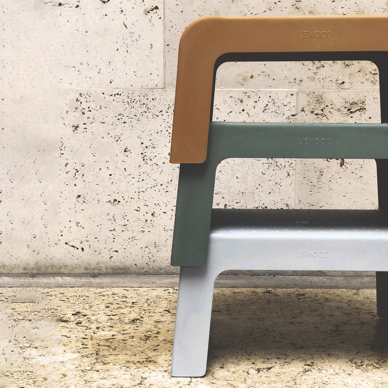 Ulla Step Stool - faune green Liewood
