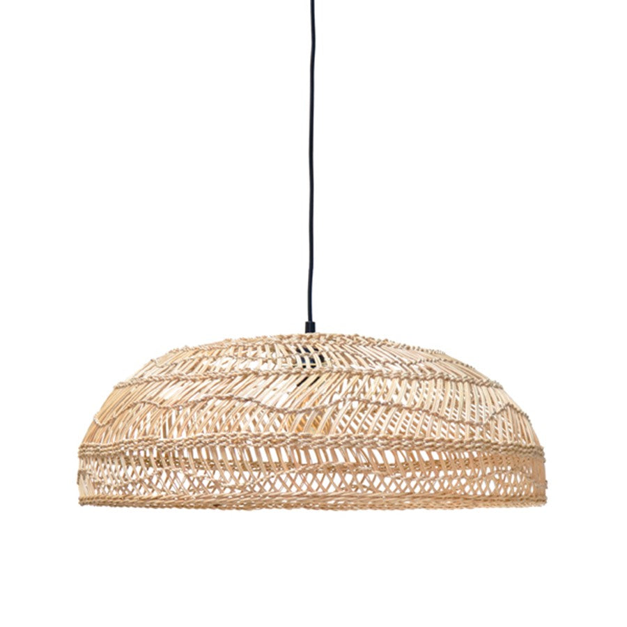 wicker hanging lamp flat natural (60x60x20) hk living