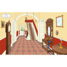 usbourne victorian dolls house sticker book